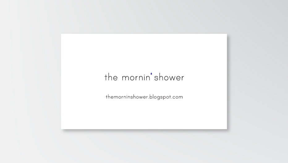 IMMAGINE COORDINATA  | Biglietto da visita The Mornin' Shower